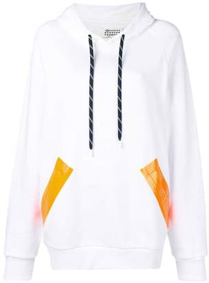 Maison Margiela varnished pocket hoodie