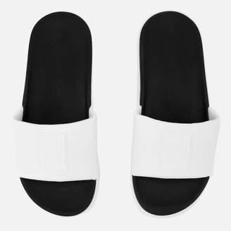 Puma Women's Platform Slide Sandals - White/Black