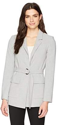 Ellen Tracy Women's Notch Collar Blazer Patch Pockets