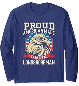 American Flag Long Sleeve Longshoreman Tshirt