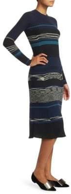 Proenza Schouler Striped Wool-Blend Sweater Dress