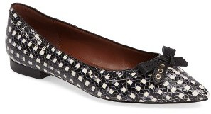 Women's Cole Haan 'Alice' Snake Embossed Pointy Toe Flat $150 thestylecure.com
