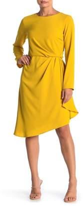 Julia Jordan Draped Front Sleeveless Crepe Dress