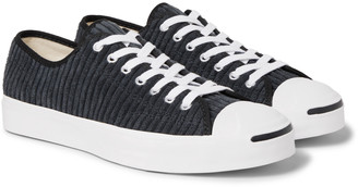 Converse Jack Purcell Ox Rubber-Trimmed Corduroy Sneakers