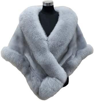 Prettybabyonline Women's Soft Long Faux Fox Fur Shawl Wrap Bridal Winter Shrug White
