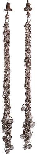 Nina Bukvic Oxidized Silver Long Earring