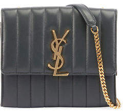 Saint Laurent Vicky Medium Monogram Chain Crossbody Bag