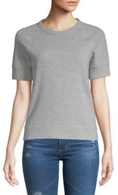 Saks Fifth Avenue Short-Sleeve Crop Top