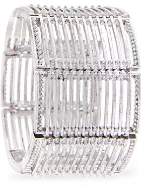 MANGO Metallic cage cuff