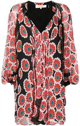 Diane von Furstenberg kimono blossom ruched dress