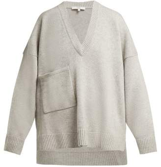 Tibi Patch Pocket Cashmere Sweater - Womens - Light Grey
