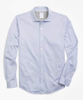 Brooks Brothers Micro-Pattern Jacquard Knit Shirt