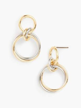 Talbots Interlocking Rings Earrings
