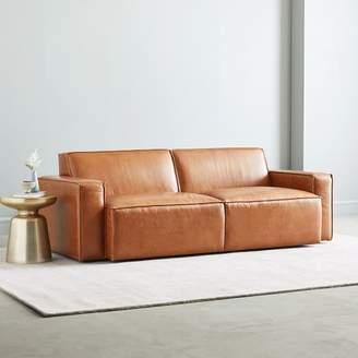 "west elm Sedona Leather Sofa (82"")"