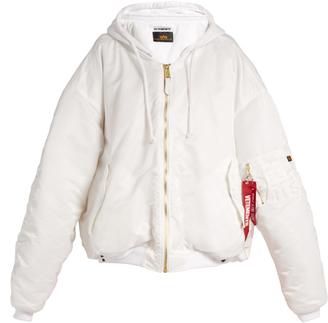 VETEMENTS X Alpha Industries reversible bomber jacket $2,365 thestylecure.com