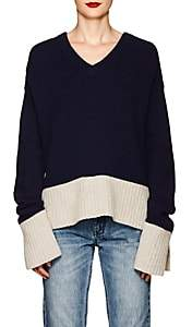 Derek Lam 10 Crosby Women's Wool-Blend V-Neck Sweater-Navy