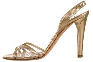 Jimmy Choo Metallic Leather Ankle Strap Sandals