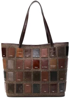 Carmina Campus patchwork tote bag