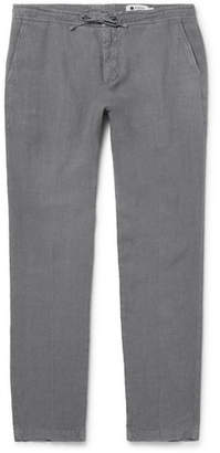 NN07 Copenhagen Tapered Linen Drawstring Trousers