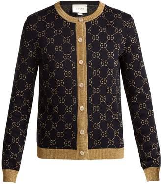 Gucci GG jacquard-knit cotton-blend cardigan