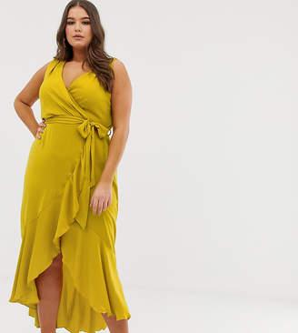 ShopStyle Australia Dresses Front Wrap Yellow TxwgpqHX0q