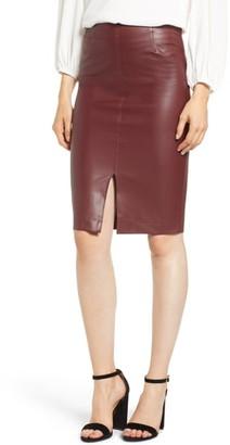 1039cc284 David Lerner Faux Leather Pencil Skirt