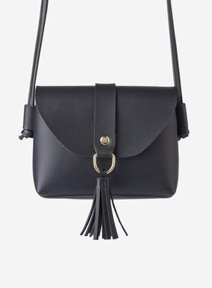 Dorothy Perkins Womens Black Mini Tassel Cross Body Bag