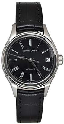 Hamilton Men's H39415734 American Classic Valiant Stainless Steel Automatic Watch with Leather Band