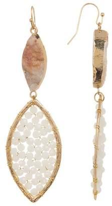 Panacea Marquise Druzy Crystal Drop Earrings