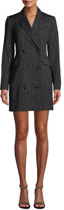 Milly Metallic Pinstripe Blazer Mini Dress