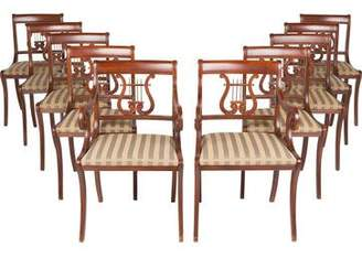 10-Piece Lyre-Back Dining Chairs