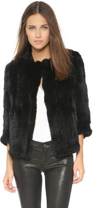 Rachel Zoe Rabbit Fur Jacket