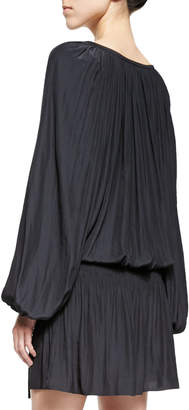 Ramy Brook Paris Crinkled Voile Dress