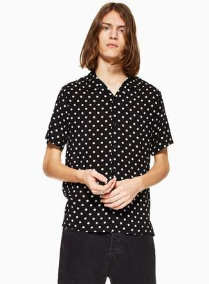 Black Polka Dot Revere Shirt