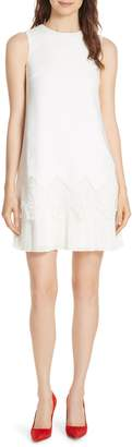 Ted Baker Pleat Lace Hem A-Line Dress