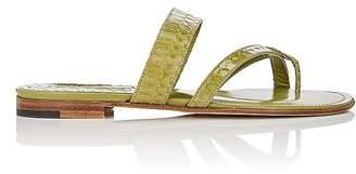 Manolo Blahnik Women's Susa Snakeskin Slide Sandals