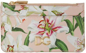 Dolce & Gabbana Pink Lily Multi Card Holder