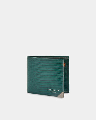 c55aa3dcadfb Ted Baker SISZIP Lizard embossed leather bifold wallet