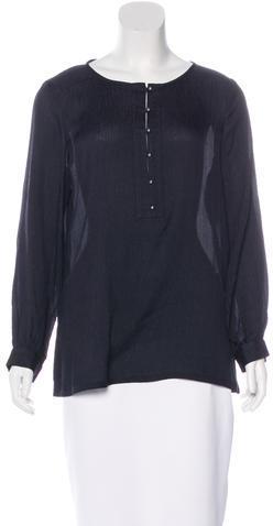 Tory BurchTory Burch Silk Long Sleeve Top