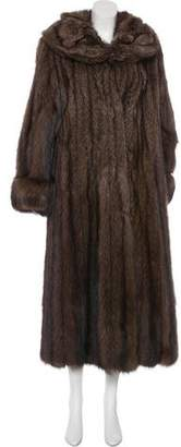 Zandra Rhodes Fisher Fur Duster Coat