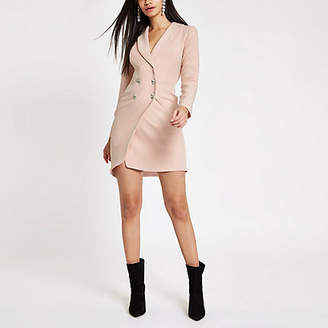 River Island Light pink rhinestone bodycon tux dress