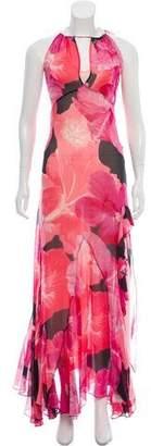 Blumarine Chiffon Maxi Dress