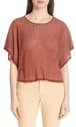 Eileen Fisher Stripe Organic Linen Blend Top