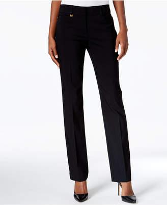 JM Collection Petite Tummy-Control Curvy Fit Slim-Leg Pants