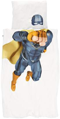 Snurk Super Hero Print Cotton Duvet Cover Set