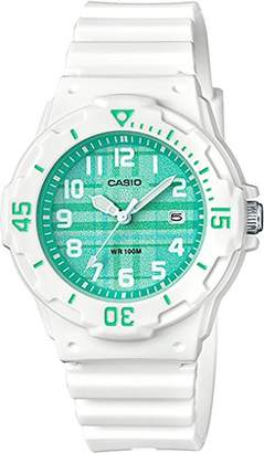 Casio Women's Quartz Stainless Steel and Resin Casual Watch