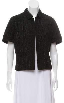 Narciso Rodriguez Tweed Short Sleeve Jacket