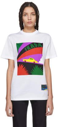 Prada White Saint Taxi T-Shirt
