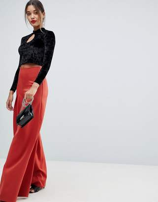Missguided Pleated Wide Leg Pants