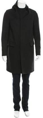 Balenciaga Hooded Wool Coat